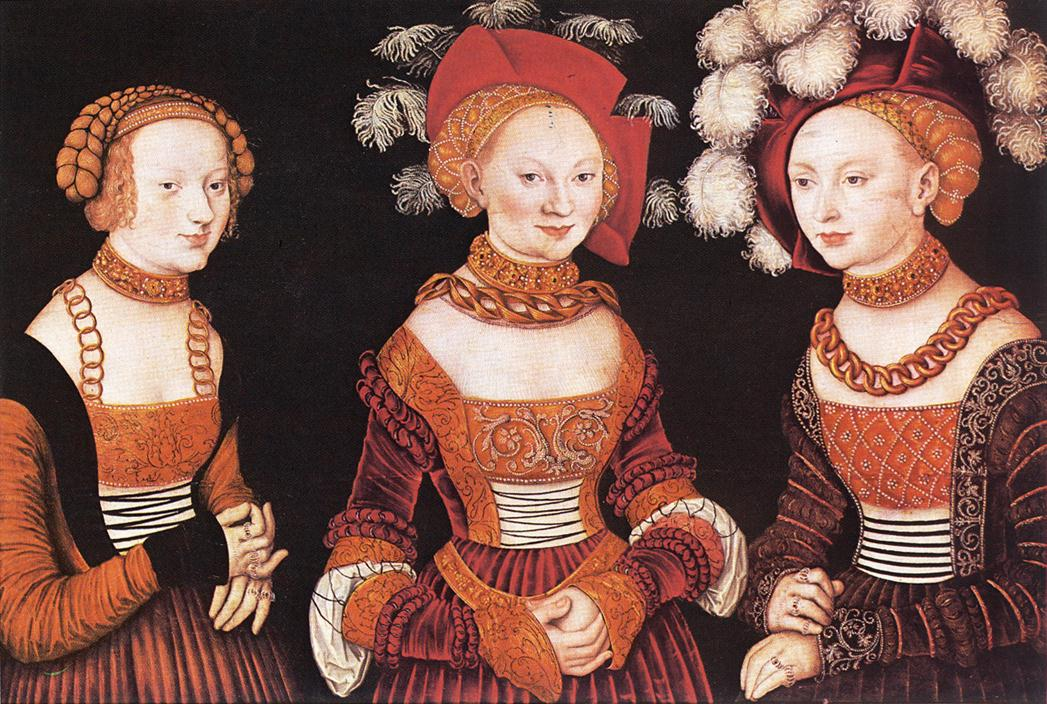 Saxon Princesses Sibylla, Emilia and Sidonia