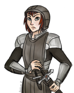 Ainei Sedi in uniform (by Amelia Hamrick)