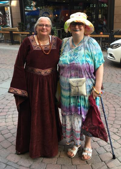 Two eccentric ladies