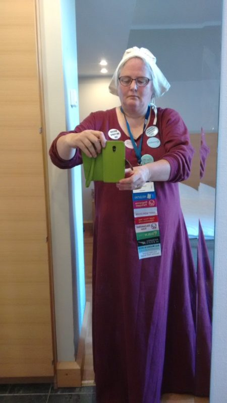 "me in ""plain"" worldcon clothes"