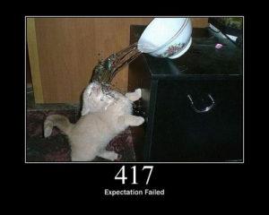 417 Expectation Failed status cat