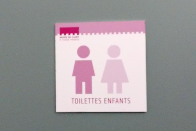 """""""toilettes enfants"""" sign"""
