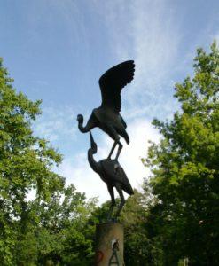 birds in Berlin park near synagogue