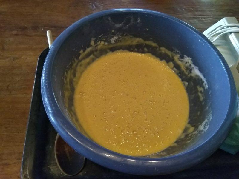 rising kulich dough