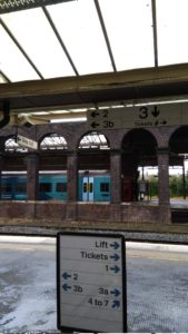 train departing from Chester station